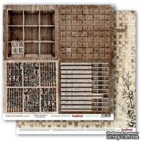 Бумага для скрапбукинга от ScrapBerry's - Архив - Кроссворд, 30,5х30,5 см., 190 гр/м, двусторонняя