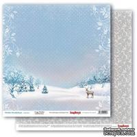 Бумага для скрапбукинга от Scrapberry's - Зимняя сказка - Северный олень, 30,5х30,5 см, 190 гр/м, двусторонняя, 1 лист