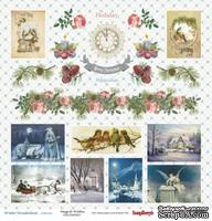 Бумага для скрапбукинга от Scrapberry's - Зимняя сказка -Карточки, 30,5х30,5 см, 190 гр/м, односторонний, 1 лист