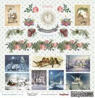 Бумага для скрапбукинга от Scrapberry's - Зимняя сказка Карточки, 30,5х30,5 см, 190 гр/м, односторонняя, 1 лист UA