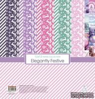 Набор бумаги для скрапбукинга от Scrapberry's - Зимние контрасты (10+2), 30,5х30,5 см, 190 гр/м