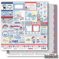 Бумага для скрапбукинга от Scrapberry's - Морские приключения - Карточки 1, 30,5х30,5 см, 190 гр/м, двосторонняя,1 лист