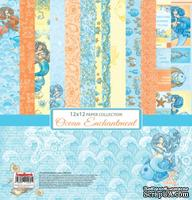 Набор бумаги для скрапбукинга от ScrapBerry's - Сказки моря (РОС), 30,5x30,5 см, 6+2 шт