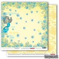Бумага для скрапбукинга от ScrapBerry's - Сказки моря Песня русалок, двусторонняя, 30,5x30,5 см