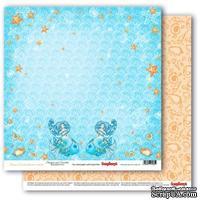 Бумага для скрапбукинга от ScrapBerry's - Сказки моря - Талисман моря, двусторонняя, 30,5x30,5 см