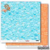 Бумага для скрапбукинга от ScrapBerry's - Сказки моря - Чары русалки, двусторонняя, 30,5x30,5 см
