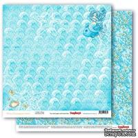 Бумага для скрапбукинга от ScrapBerry's - Сказки моря - Нимфа, двусторонняя, 30,5x30,5 см