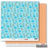 Бумага для скрапбукинга от ScrapBerry's - Сказки моря - Подводное царство, двусторонняя, 30,5x30,5 см