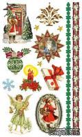 Набор натирок Новогодние подарки 12*20 см SCB 22062022 от ScrapBerry's