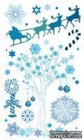 Набор натирок 12*20см Снежное дерево от ScrapBerry's