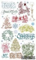 Набор натирок 12*20см Рождество-2 от ScrapBerry's