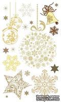 Набор натирок 12*20см Новогодние рисунки коричневые от ScrapBerry's