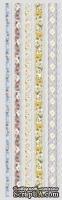 Набор натирок 9,5*30,5см Вышитые кружевные ленты 5 от ScrapBerry's