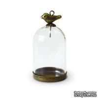 Набор: стеклянный мини-колпак с птичкой от Scrapberry's - ScrapUA.com