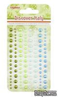 Клеевые полужемчужинки от ScrapBerry's - Итальянские каникулы, 120 шт, 4 цвета