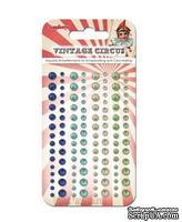 Клеевые полужемчужинки от ScrapBerry's - Vintage Circus 2 - Старый цирк 2, 120 шт, 4 цвета