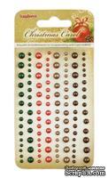 Клеевые полужемчужинки от ScrapBerry's - Ночь перед Рождеством, 120 шт, 4 цвета