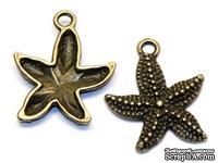 Набор металлических подвесок от ScrapBerry's - Морская звездочка, 19x23мм, 10 шт. - ScrapUA.com