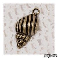 Набор металлических подвесок от Scrapberry's - Морская ракушка, 13х26мм, 10 шт. - ScrapUA.com