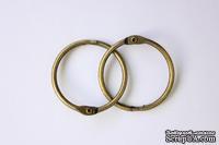 Кольца для альбомов, 2 шт., цвет: состаренная медь 30 мм SCB 2504230