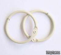 Кольца для альбомов, 2 шт., цвет: слоновая кость 50 мм SCB 2504350