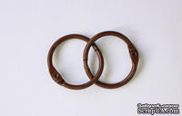 Кольца для альбомов, 2 шт., цвет: темно-коричневый 30 мм SCB 2504530