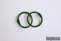 Кольца для альбомов, 2 шт., цвет: зеленый 25 мм SCB 2504725