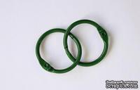 Кольца для альбомов, 2 шт., цвет: зеленый 30 мм SCB 2504730