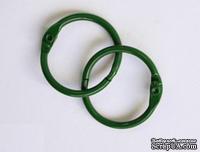 Кольца для альбомов, 2 шт., цвет: зеленый 40 мм SCB 2504740
