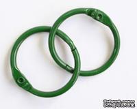 Кольца для альбомов, 2 шт., цвет: зеленый 50 мм SCB 2504750