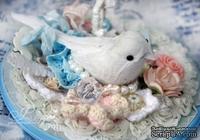 Украшение от Scrapberry's - Птички, белые 2 шт