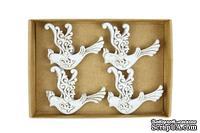 Набор декоративных украшений со стикерами от Scrapberry's - Птицы, 8 шт - ScrapUA.com