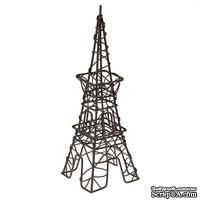 Металлическая мини Ейфелева башня, коричневая, 6х11х19,5см