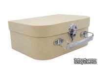 Заготовка коробки из папье-маше от Scrapberry's - Шкатулка с ручкой, 19,5x14,5x8 см