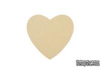 Заготовка из папье-маше от Scrapberry's - Подставка под чашку, сердце, 1шт