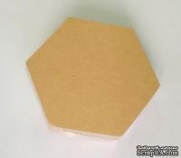 Набор заготовок из папье-маше от Scrapberry's, Подставка под чашку - шестиугольник, 11х9,5 cм, 10 шт.