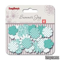 Набор принтованных бумажных цветочков от Scrapberry's - Летняя радость - Цветущая лоза, 24 шт