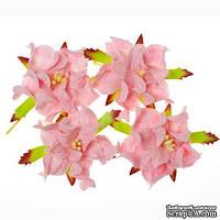 Гардении, набор 4шт., диаметр 5см, нежно-розовые