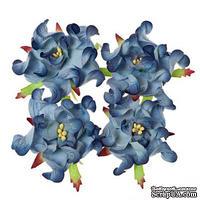 Гардении, набор 4шт., диаметр 5см, синие