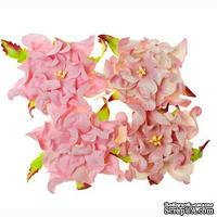 Гардении, набор 4шт., диаметр 7см, розовые и бело-розовые