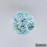 Гипсофилы, набор 10 шт., диаметр 1 см, небесно-голубые