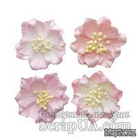 Гардении, набор цветов из шелковичной бумаги 4 шт., диаметр 5см