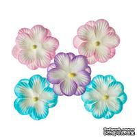 Братки, набор двойных цветов из шелковичной бумаги 5 шт., цвет пастельный