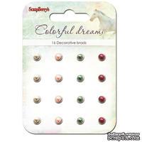"""Набор жемчужных брадс """"Цветные сны"""", цвет малиновый, розовый, зеленый, 16 шт."""