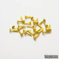Набор брадс, 25 шт., желтые - ScrapUA.com