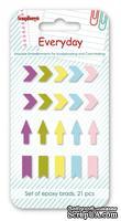 Набор однотонных эпоксидных стикеров от  Scrapberry's - День за Днем 3