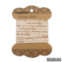 Лента декоративная от ScrapBerry's - Сантиметр Шебби, 10мм, 2м, хлопок