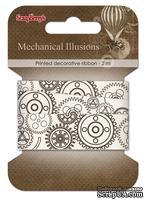 Лента декоративная от Scrapberry's -Механические иллюзии,20мм, 2м, хлопок