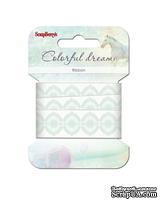 Лента декоративная  от Scrapberry's - Цветные сны, 20мм, 2м,хлопок