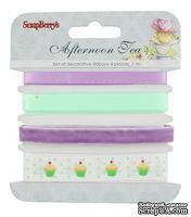 Набор декоративных лент от Scrapberry's,  Сладости, 4шт. по 1м